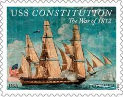 The USS Constitution sets sail in the form of Forever stamps to commemorate the bicentennial of the War of 1812. All 25 million War of 1812: USS Constitution stamps will be available beginning Saturday, August 18.