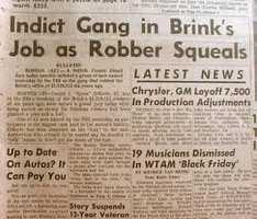 O'Keefe later claimed that he had never seen his portion of the loot after he had given it to another member of the Brinks gang for safekeeping.