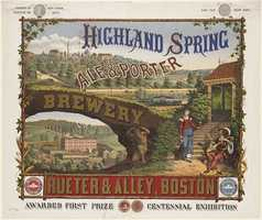 Highland Spring Brewery was active from 1867 to 1885 and located at Heath and Parker Streets in Jamaica Plain.