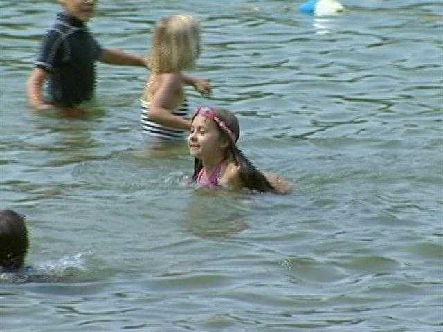 Swimming is one of the major attractions at Walden Pond.