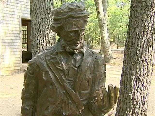 The real Thoreau famously lived on the pond, in a cabin, 2 years, 2 months, and 2 days.