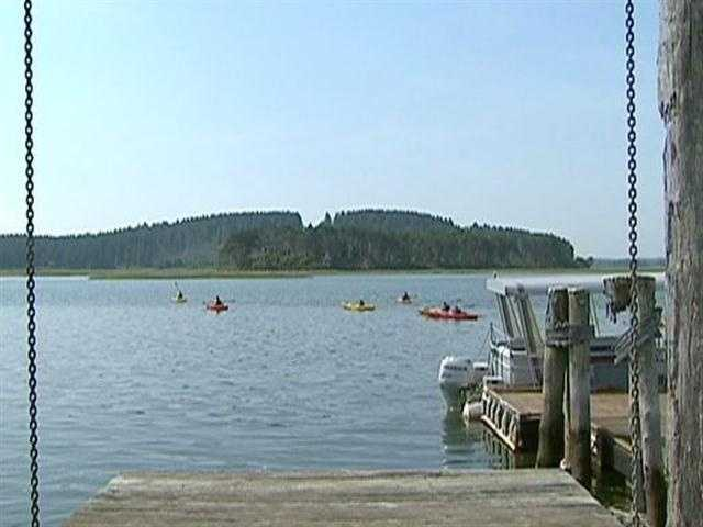 Choate Island is accessible by boat.