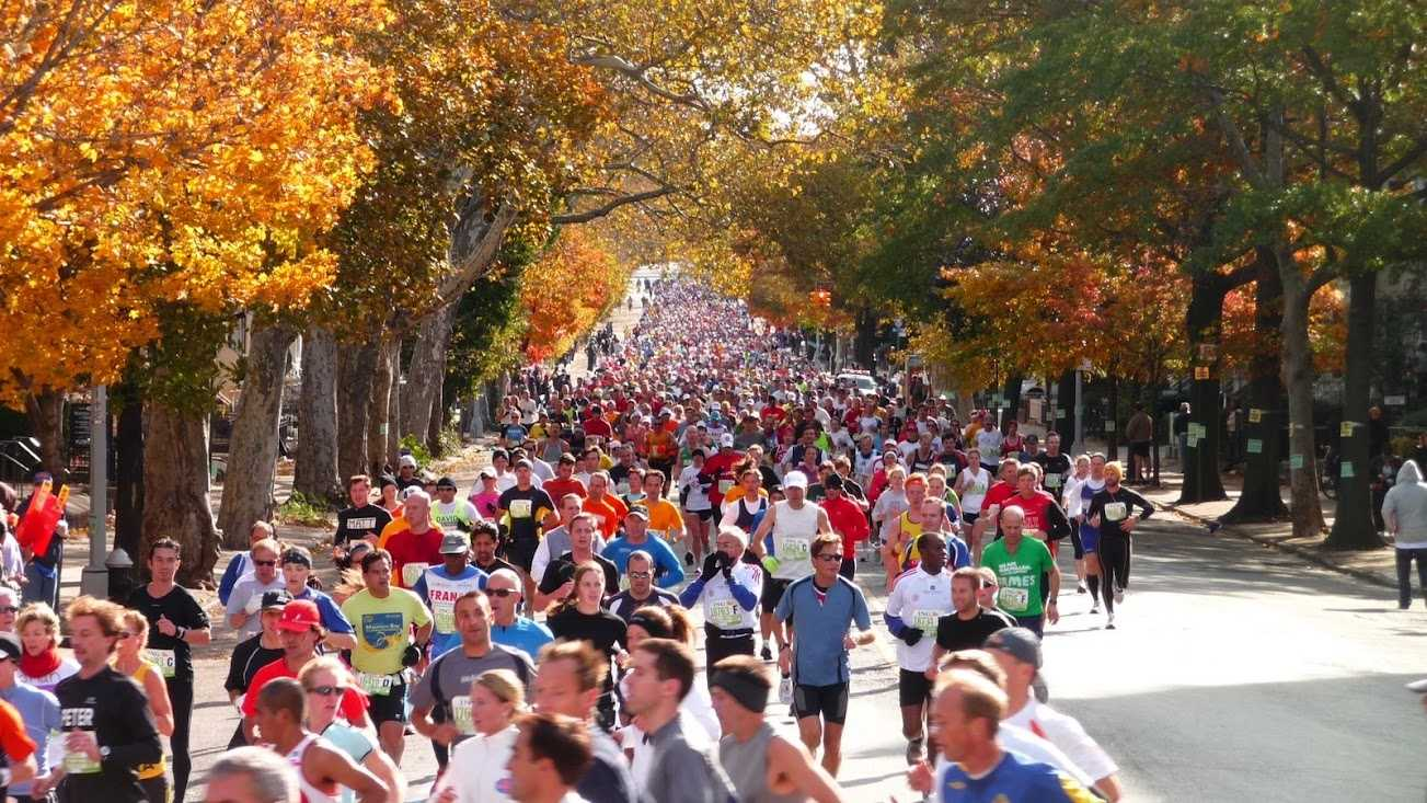 Thousands of runners take part in the 2010 New York City Marathon.