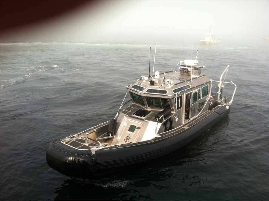 """Quincy police rescued 52 passengers with their vessel """"The Guardian."""""""