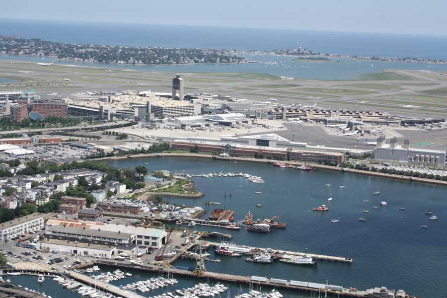 See how Logan Airport grew from a muddy East Boston airfield to an international hub that moves over 31 million passengers a year.