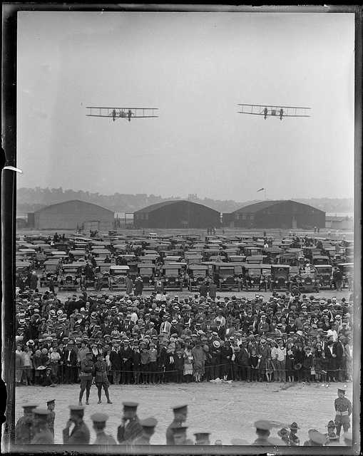 In 1934, the World Fliers buzz into the East Boston airport.