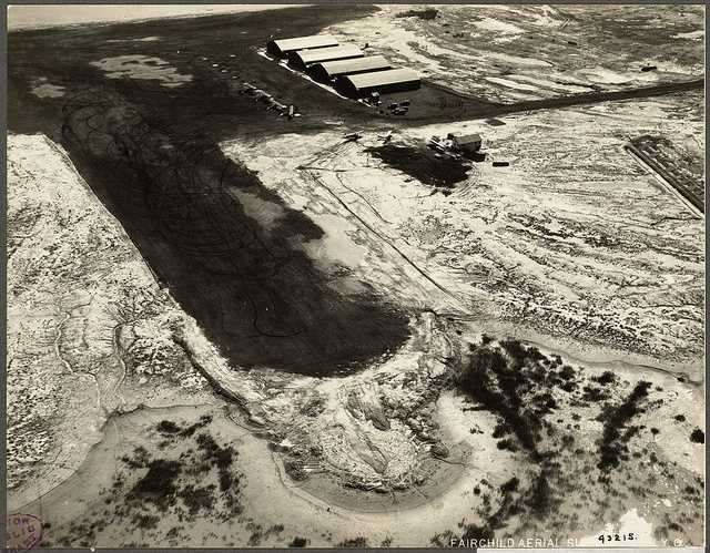 Boston's first aircraft touched down on the 1,500 foot cinder runway on the tiny 189-acre tidal flat airfield in 1923.