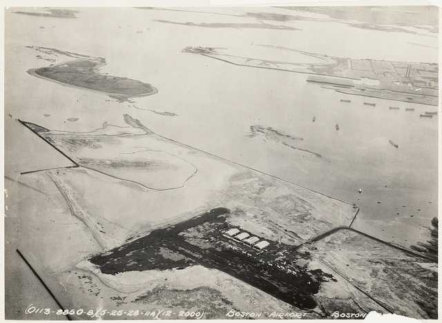 In 1929, an administration building was added, runways were lengthened, and access roads were paved and landscaped. Two hundred acres of land was reclaimed from Boston Harbor.