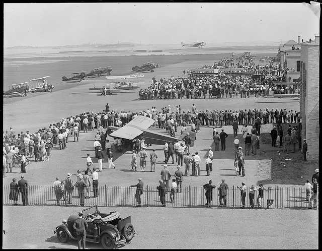 A 1930s view of Boston Airport.