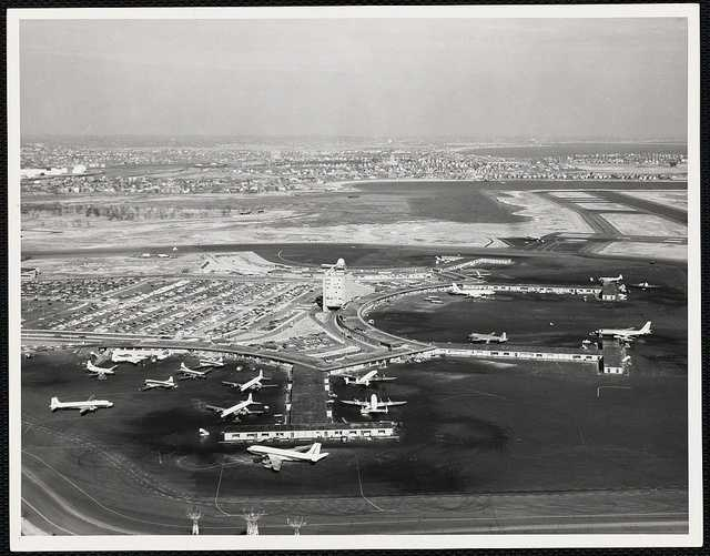 In the early 1960s, a $23 million Massport project adds an international terminal on the current Terminal C and an extension of runway 15R/33L to accommodate larger, modern aircraft.