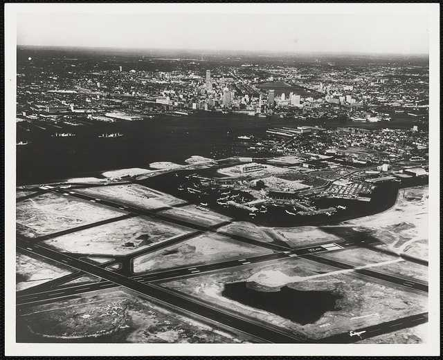 By 1959, the airport had four runways and an expanded terminal with 45 gates with daily PanAm service to Europe. American Airlines also added daily flights from Boston to Los Angeles.