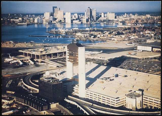 """The 8-story control tower was built at the center of the original Boutwell Terminal, now known as the """"Old Tower,"""" in 1955."""