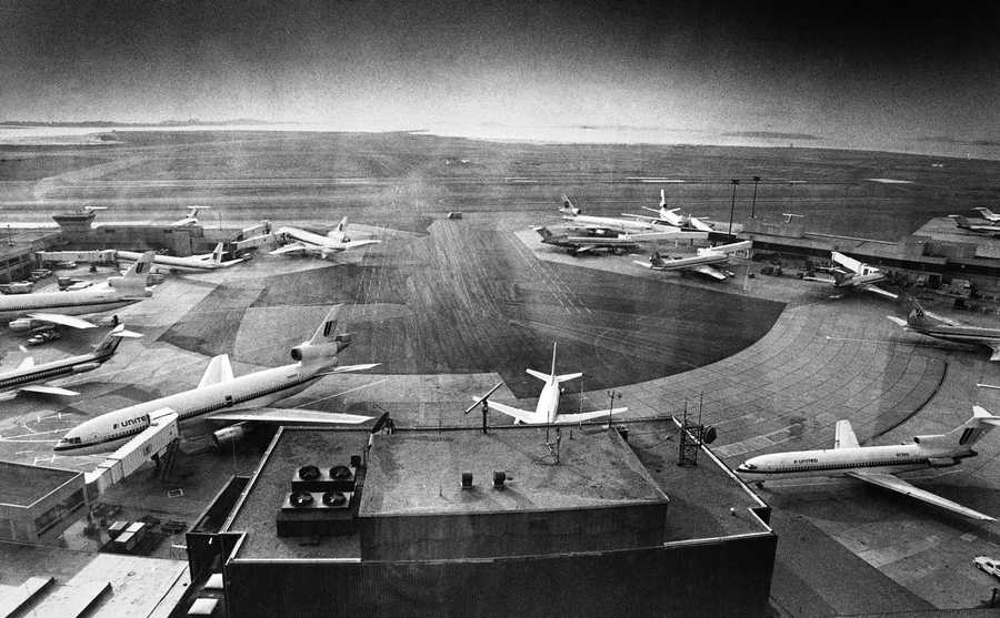 In 1952, loop access roadway system is completed to support the new terminal. The first non-stop transcontinental service begins between Boston and Los Angeles.