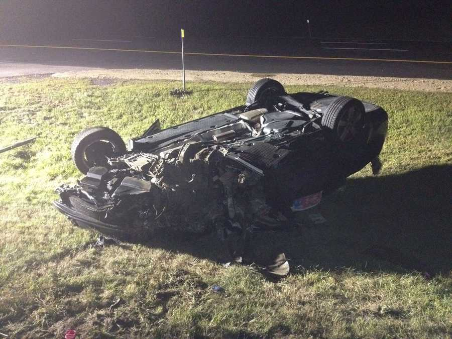 This was the final car hit by the wrong-way driver Monday night.
