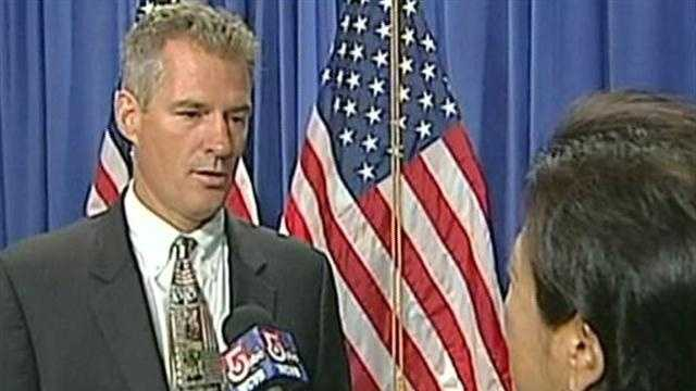 Scott Brown, the Republican seeking a second term as senator of Massachusetts, spoke with NewsCenter 5's Janet Wu at the Republican National Convention Thursday.