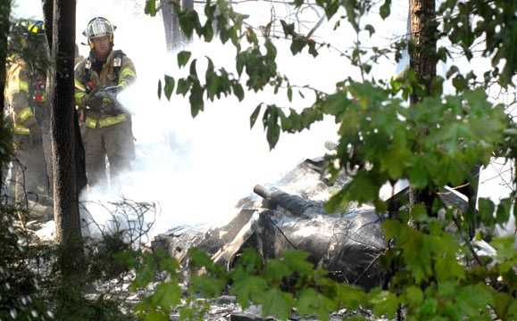 The crash happened near the Falmouth Airpark, near Fresh Pond Road, at about 11:15 a.m.