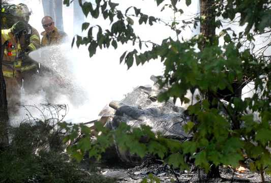 One person is dead and two others were injured in a plane crash Saturday morning in Falmouth.