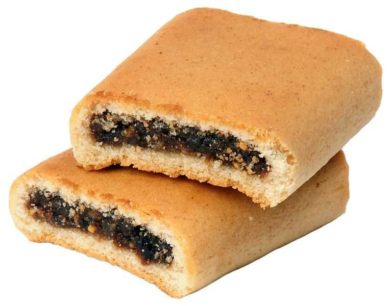 Fig Newtons were first mass produced at the F. A. Kennedy Steam Bakery in Cambridge in 1891.