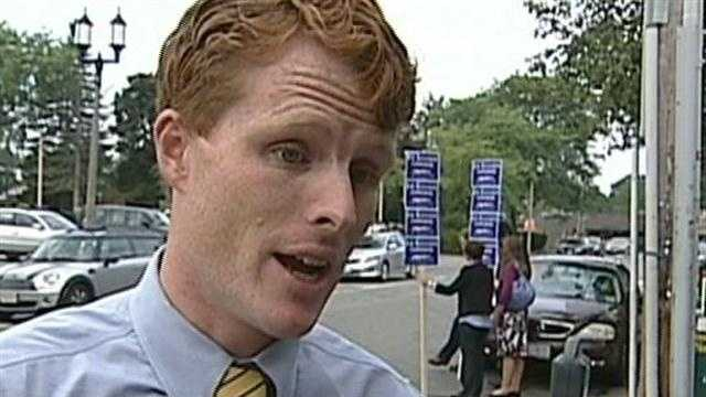 Joe Kennedy III, the first of his famous political family's generation to seek elective office, has defeated two little-known Democrats in yesterday's primary in Massachusetts' 4th Congressional District.
