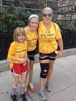 The walk includes cancer patients, survivors and family members.