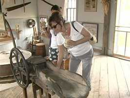 The mill now has an adjoining coffee shop, where visitors can look at historical displays.
