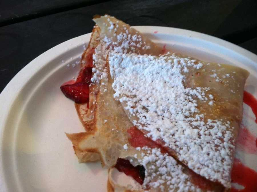 Mixed berry lemon sugar crepes