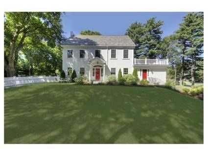 This colonial is on the market in Newton for $1.975 million.
