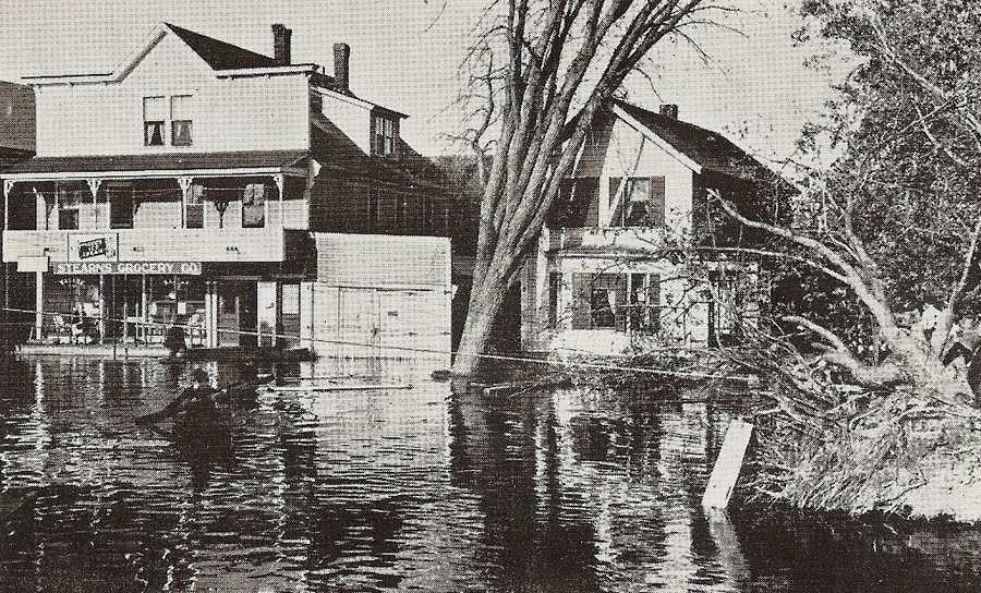 Here's another shot of flooding in Concord.
