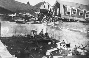 Several homes in Island Park, R.I. were also destroyed.