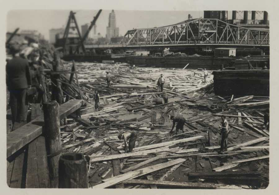 Utter destruction at Pawtuxet Cove demonstrating level of storm surge. New England Hurricane of 1938.