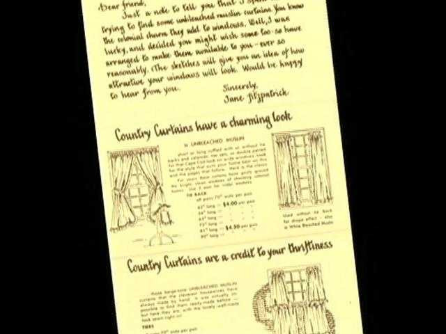 Country Curtains is the largest specialty retailer of ready-made curtains in the United States.
