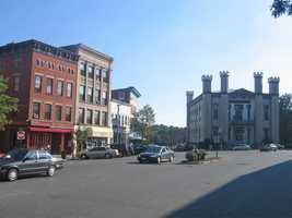 13.) Northampton -- 50 percent are enrolled as Democrats.