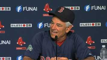 """September 14: Bobby Valentine said the Red Sox' September depth chart was """"the weakest roster we've ever had in September in the history of baseball. We could use help everywhere. """""""