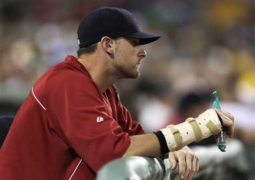 August 10: Will Middlebrooks breaks his wrist when he's hit by a pitch, ending eliminating one of the few feel-good stories from the Red Sox this season.