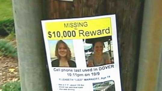 A $10,000 reward was offered in Marriott's disappearance.