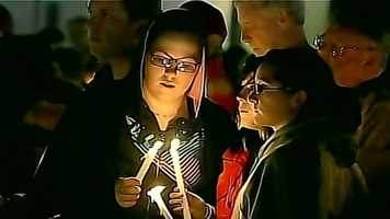 A candlelight vigil was held in Lizzi's hometown of Westborough, Mass., on Saturday, Oct. 13.