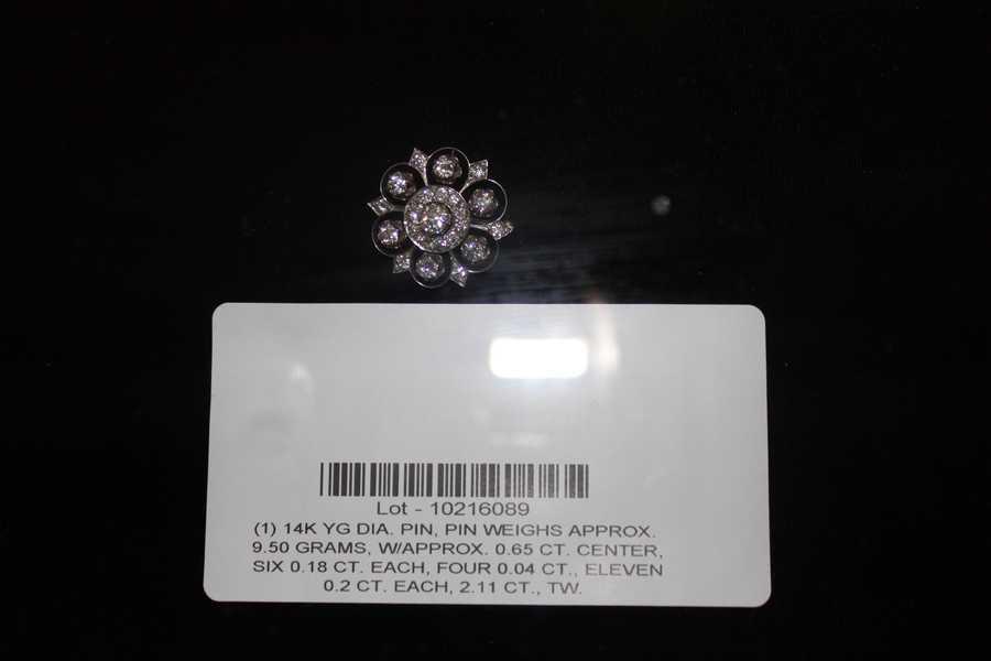 A diamond pin.