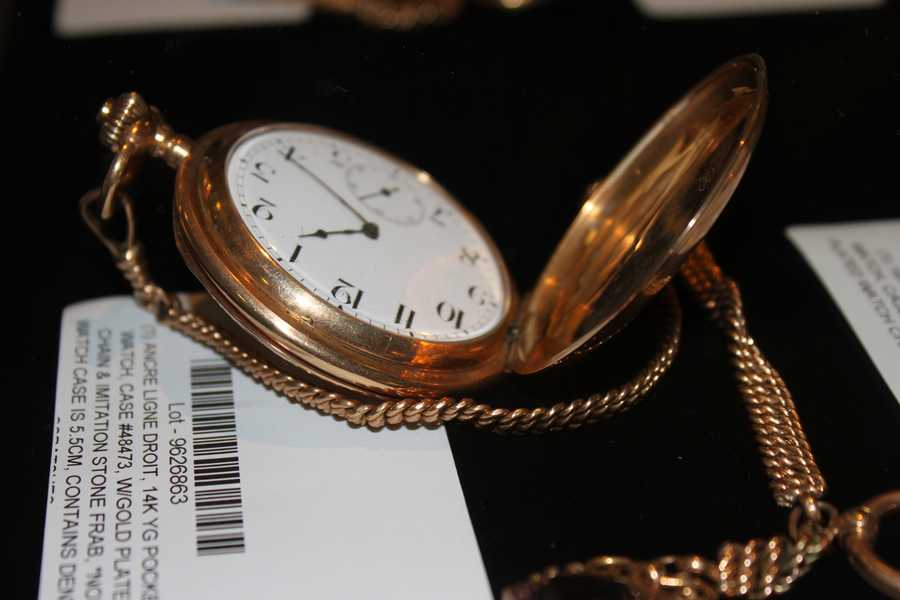 The state is permitted to sell the items after a lengthy period of going unclaimed.