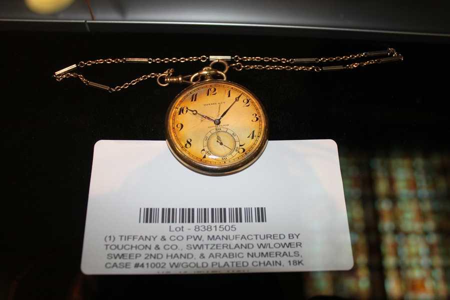 A Tiffany pocket watch.
