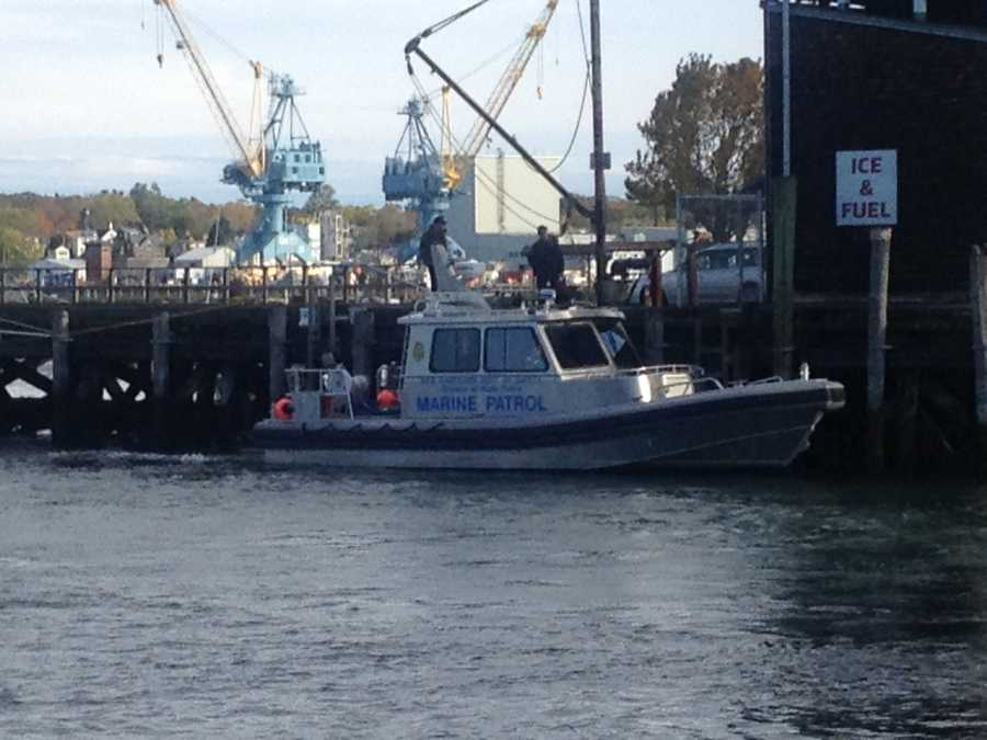 Meanwhile, Marine Patrol crews continued their search off the coast of Portsmouth on Tuesday, Oct. 16, for Marriott's body.