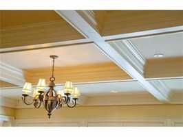 A look at the coffered ceilings.