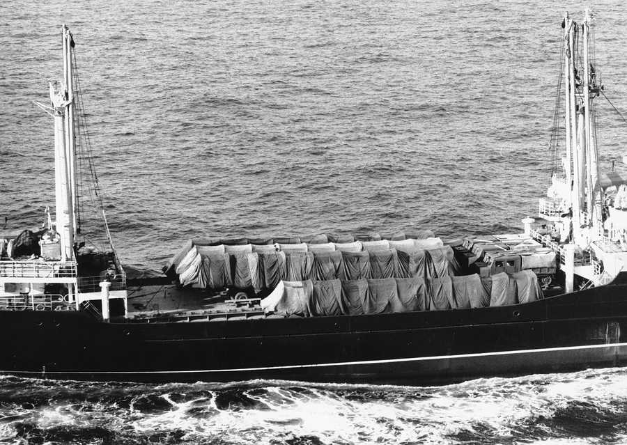 In the five decades since the nuclear standoff between Washington and Moscow, much of the long-held conventional wisdom about the missile crisis has been knocked down, including the common belief that Kennedy's bold brinksmanship ruled the day. The Soviet freighter, Bonronec, sails an Easterly course away from Havana on Nov. 9, 1962.