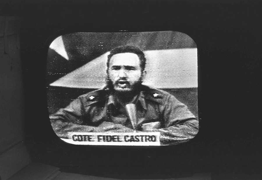 Cuban President Fidel Castro replies to President Kennedy's naval blockade via Cuban radio and television on October 23, 1962.