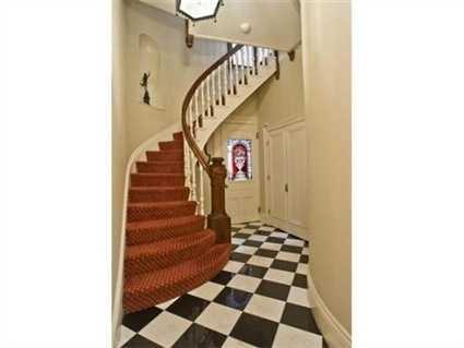 A grand staircase.