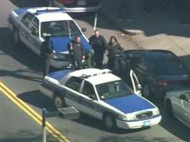 You can see animal control carrying big nets alongside Boston Police