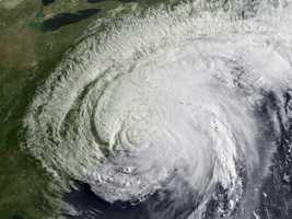 August 28, 2011 – Hurricane Irene weakened to a tropical storm immediately after landfall, produced high winds, heavy rains, and flash flooding especially in western New England.
