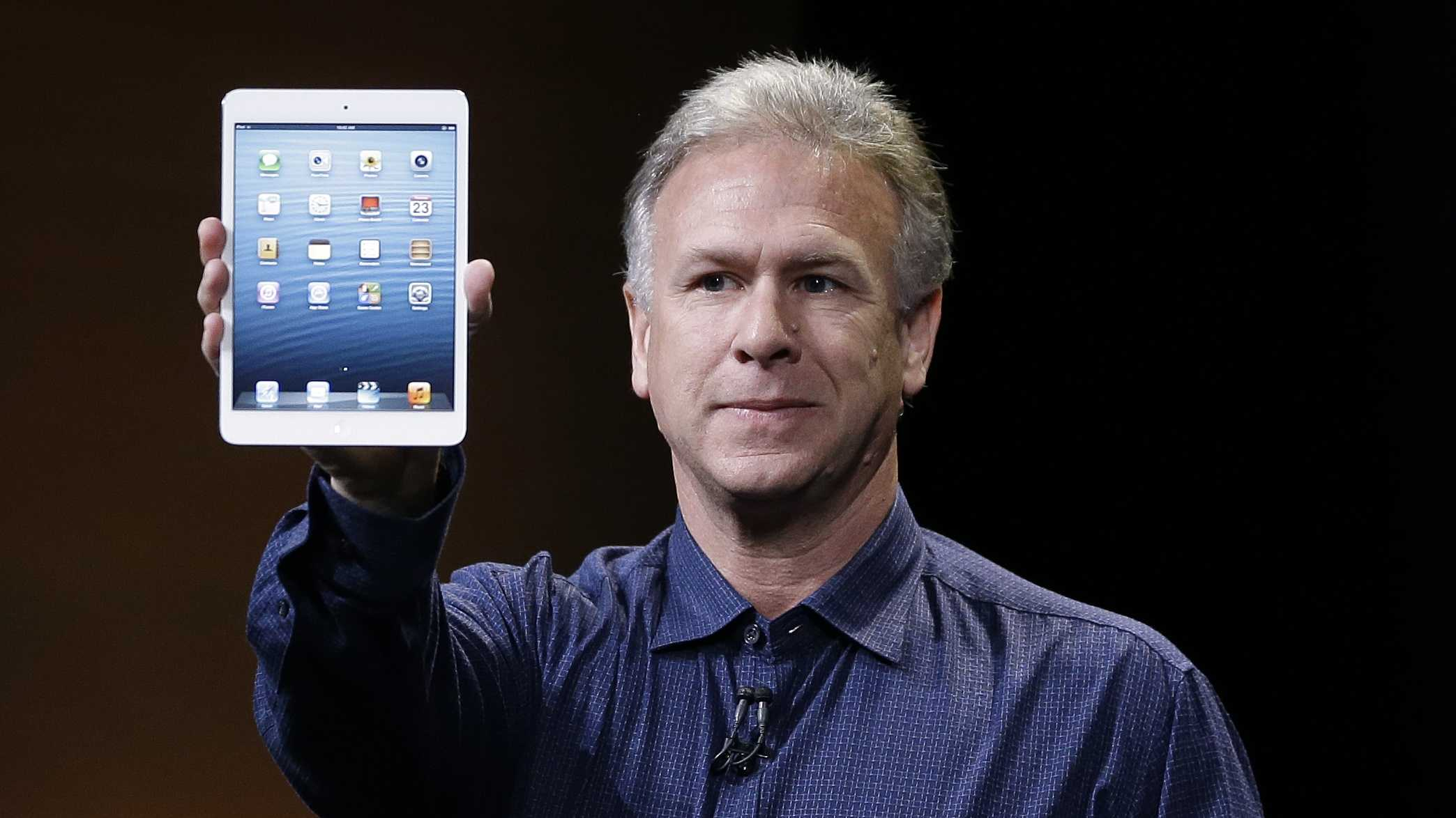 Phil Schiller, Apple's senior vice president of worldwide product marketing, introduces the  Mini.