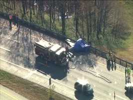Two people were killed when a single-engine plane crashed alongside Interstate 93 in Hooksett in the area of exit 10 on Thursday.