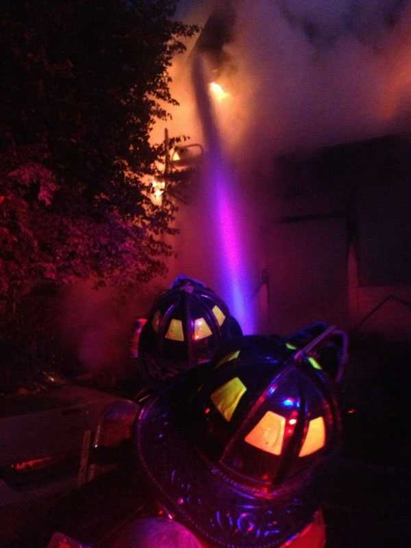 The fire broke out at the two and a half story wood frame house on Quint Avenue at 6:17 a.m.