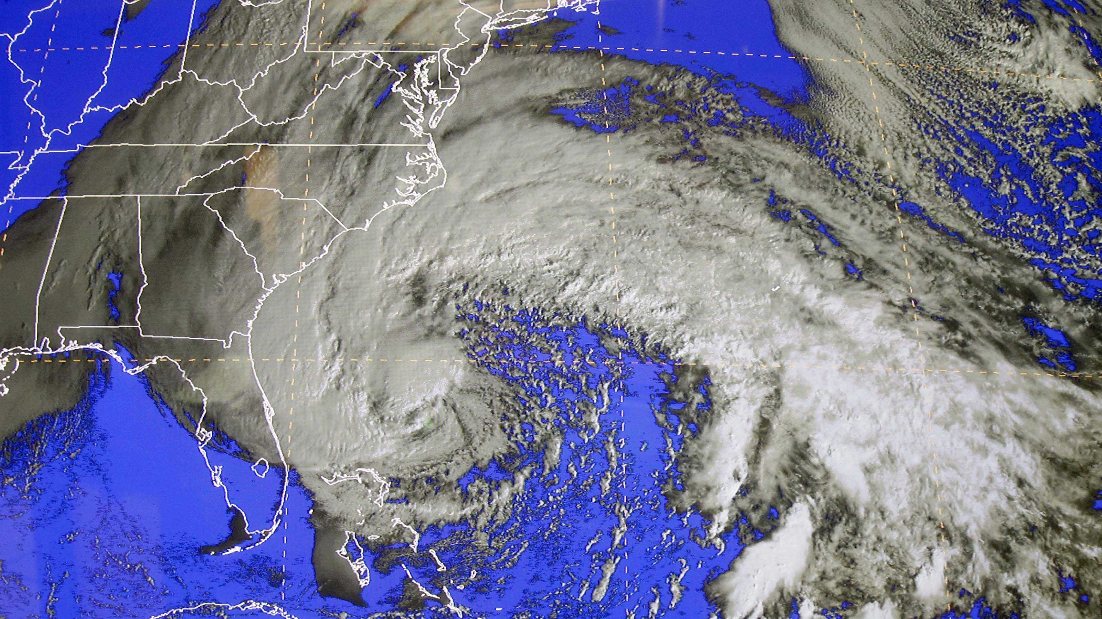Sandy as seen from space on Saturday